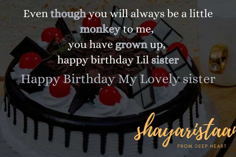 birthday quotes for sister in hindi | Even though🤗 you will always be a