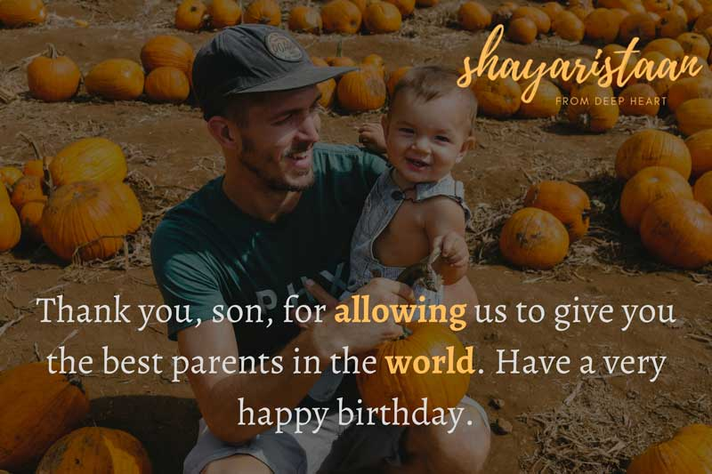 birthday quotes for son   Thank😇 you, son, for allowing😇 us to give you the best parents in the world. Have😇 a very happy birthday.