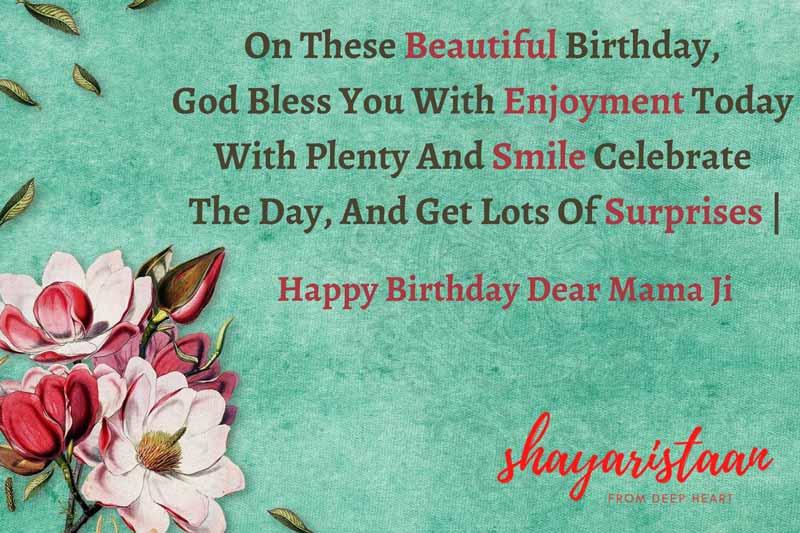 birthday wishes for mamaji in hindi   On these 😇Beautiful Birthday,