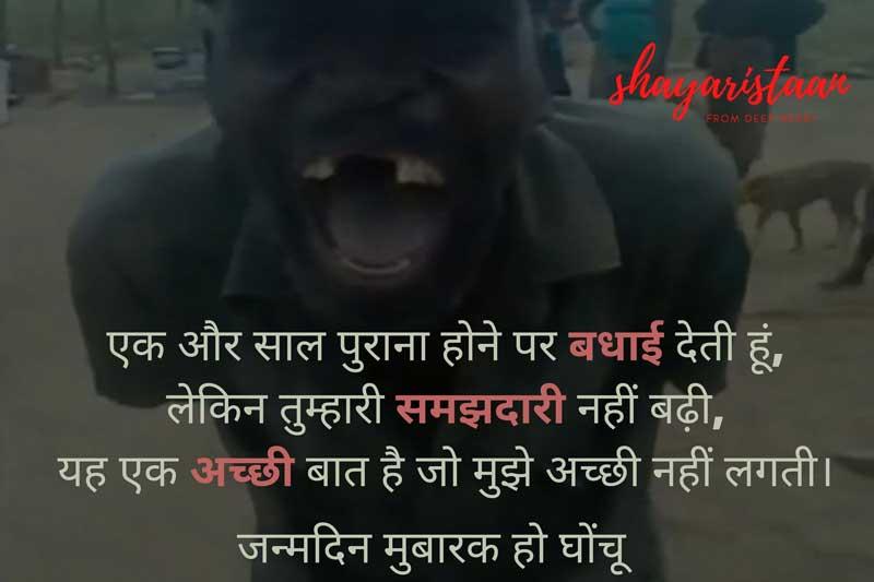 funny birthday wishes for best friend in hindi | एक😊 और साल 😊पुराना होने पर बधाई देती हूं,
