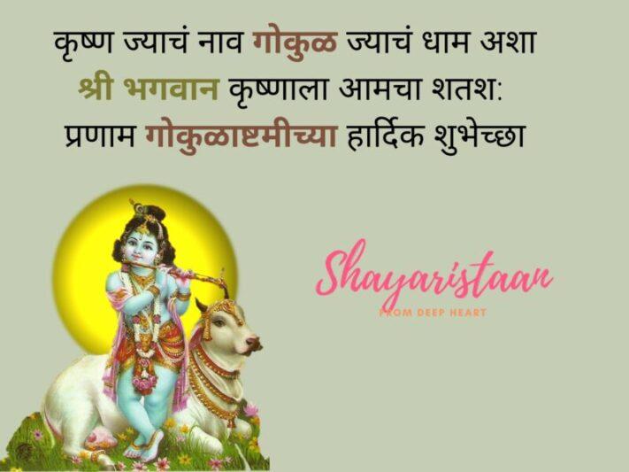 quotes on janmashtami | कृष्ण ज्याचंं नाव गोकुळ ज्याचंं धाम अशा श्री भगवान कृष्णाला आमचा शतश: प्रणाम गोकुळाष्टमीच्या हार्दिक शुभेच्छा