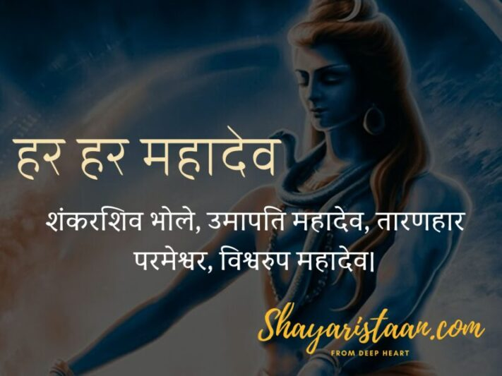 mahadev status | शंकरशिव भोले, उमापति महादेव, तारणहार परमेश्वर, विश्वरुप महादेव।