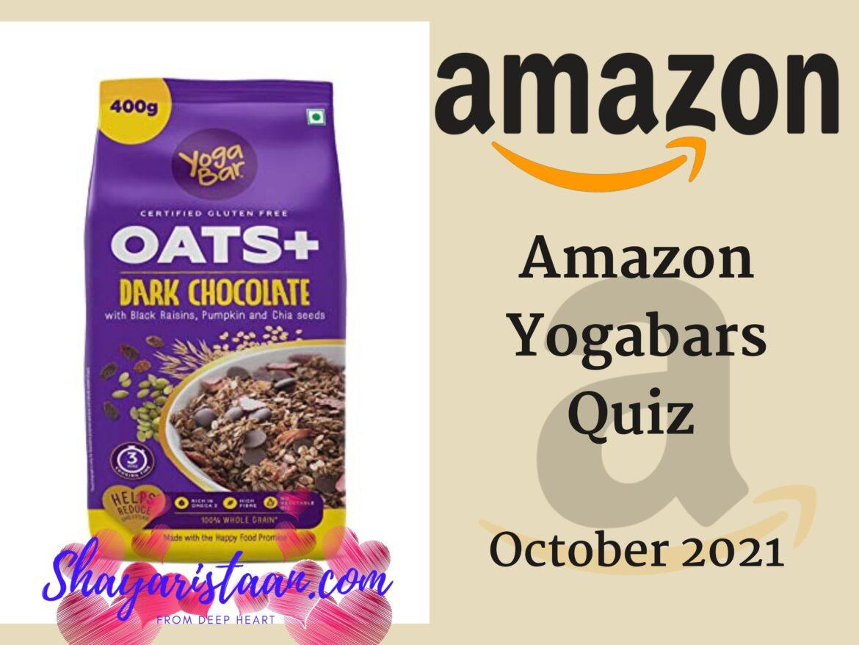 Amazon Yogabars Quiz Answers Watch & Win 5000