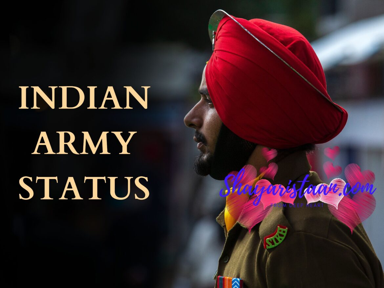 100+ Indian Army Status, Shayari and Quotes